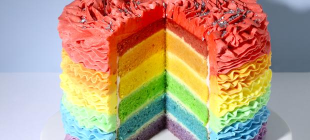 Rainbow Cake-Rezept