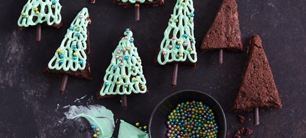 Weihnachtsplätzchen: Brownie-Tannenbäume