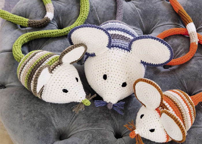 Lieblingstiere Häkeln Familie Maus Gu