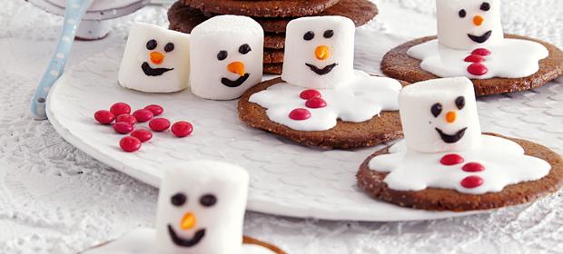 Weihnachtsplätzchen: Schmelzende Schneemänner