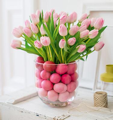 farbenfrohe tulpen fr hling im haus gu. Black Bedroom Furniture Sets. Home Design Ideas
