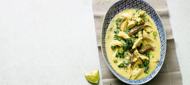 Paleo für Faule: Ingwer-Spinat-Suppe