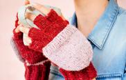 Stricken: Markt-Handschuhe