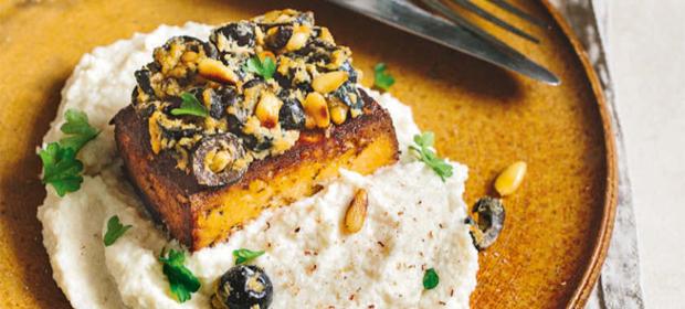 Ketogene Ernährung: Tofu mit Selleriepüree