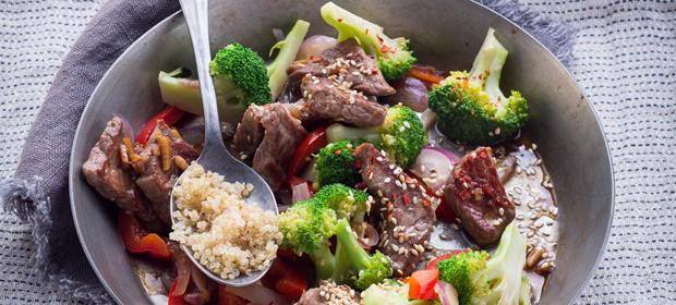 Diät-Rezept: Diät-Rezept: Rindfleisch mit Brokkoli