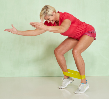 Miniband-Fitness: Squat in Balance