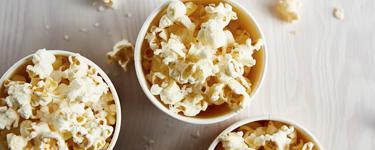 Popcorn natur statt gesalzene Erdnüsse