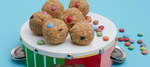 Kunterbunte Cookie-Kugeln