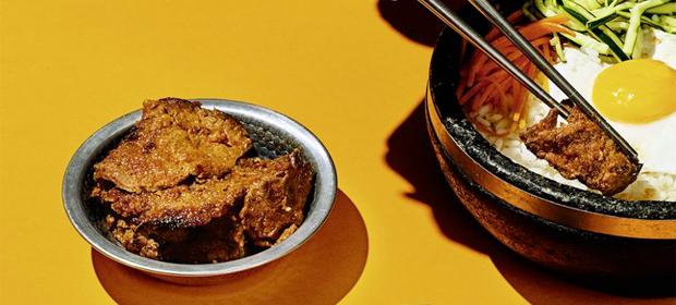 Rindfleisch und Spinat für Bibimbap