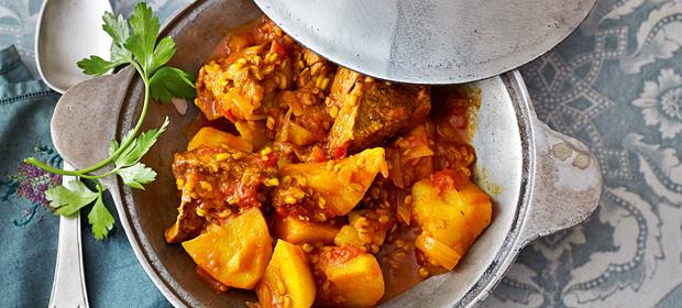 Orientalisches Rezept: Lamm mit Kartoffel-Bockshornklee-Sauce