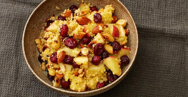 Hirse-Cranberry-Bowl