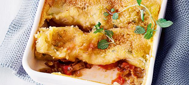 Vegan ohne Soja: Auberginen-Cannelloni