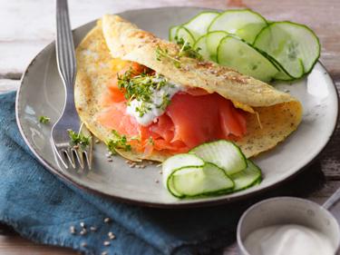 Räucherlachs-Kresse-Omelett für genussvolles Abnehmen