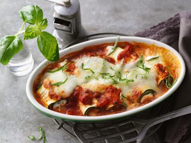 Zucchini Cannelloni zum Abnehmen mit Almased