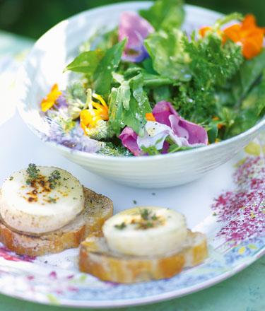Kräuter-Blüten-Salat - Sommerküche - Kochbuch