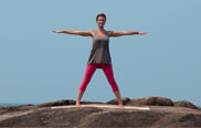 Yoga Dreieck Step 1