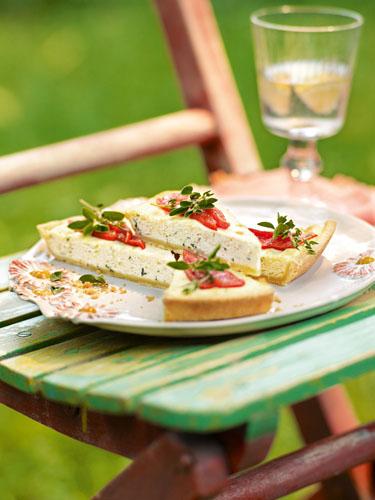 Ricotta-Kräuter-Tarte - Sommerküche