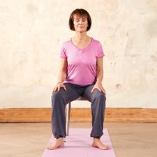 Yogaübung für Späteinsteiger