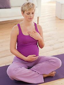 Entspannungsübung - Yoga für Schwangere