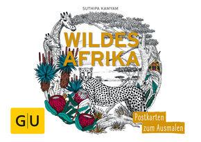 Wildes Afrika: Postkartenbuch zum Ausmalen