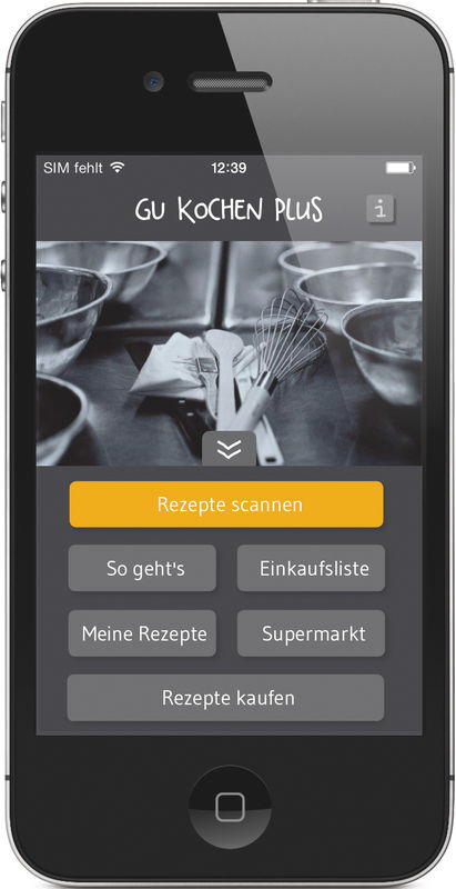 kochen plus app app gu. Black Bedroom Furniture Sets. Home Design Ideas
