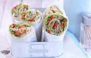 Gemüse-Wraps mit Lupinenfilet aus Expresskochen Vegan