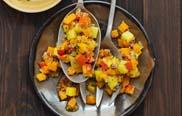 Bauernmarkt und Biokiste - Kürbis-Kartoffel-Salat