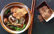 Udon-Nudelsuppe - Veggie-Küche