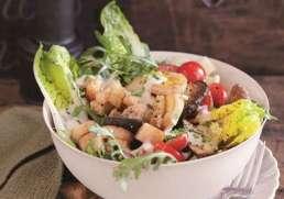 Blattsalat mit Seidentofu-Dressing