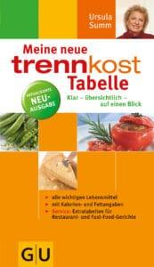 trennkost-Tabelle, Meine neue - Buch (Softcover)