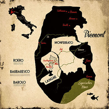 Piemont Weinbau Karte.Weine Die Man Getrunken Haben Muss