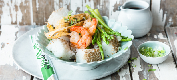 Spargel-Rezept: Spargel-Sushi-Bowl