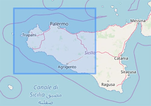 Karte Sizilien