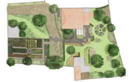 Gartenplan Illustration Grundriss