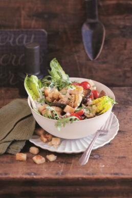 Blattsalat mit Seidentofu