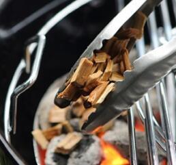 Grill mit Kohle