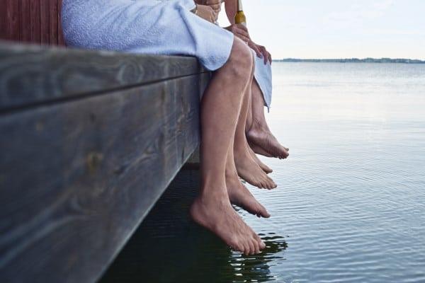 Füße Saunagang