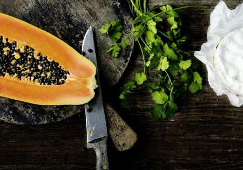 Kürbis-Papaya Suppe