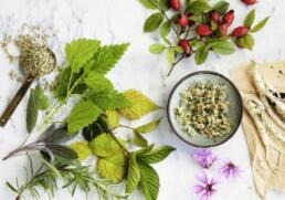 Tee Blüten Früchte