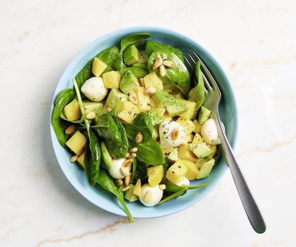Mango-Avocado-Salat mit Spinat