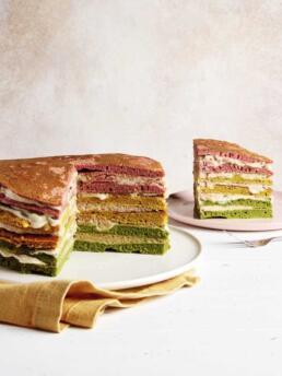 Regenogen-Pancake-Torte
