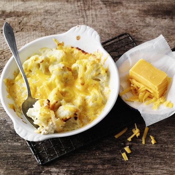 Blumenkohl-Käse-Gratin Mac and Cheese