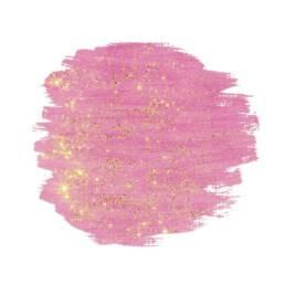 pinke Farbe mit goldenem Glitzer