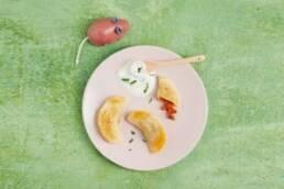 Teller mit breifreiem Essen