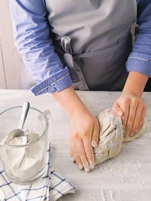 Pizzateig_Step 4 Teig kneten