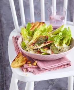 Caesar Salad mit Saltimbocca