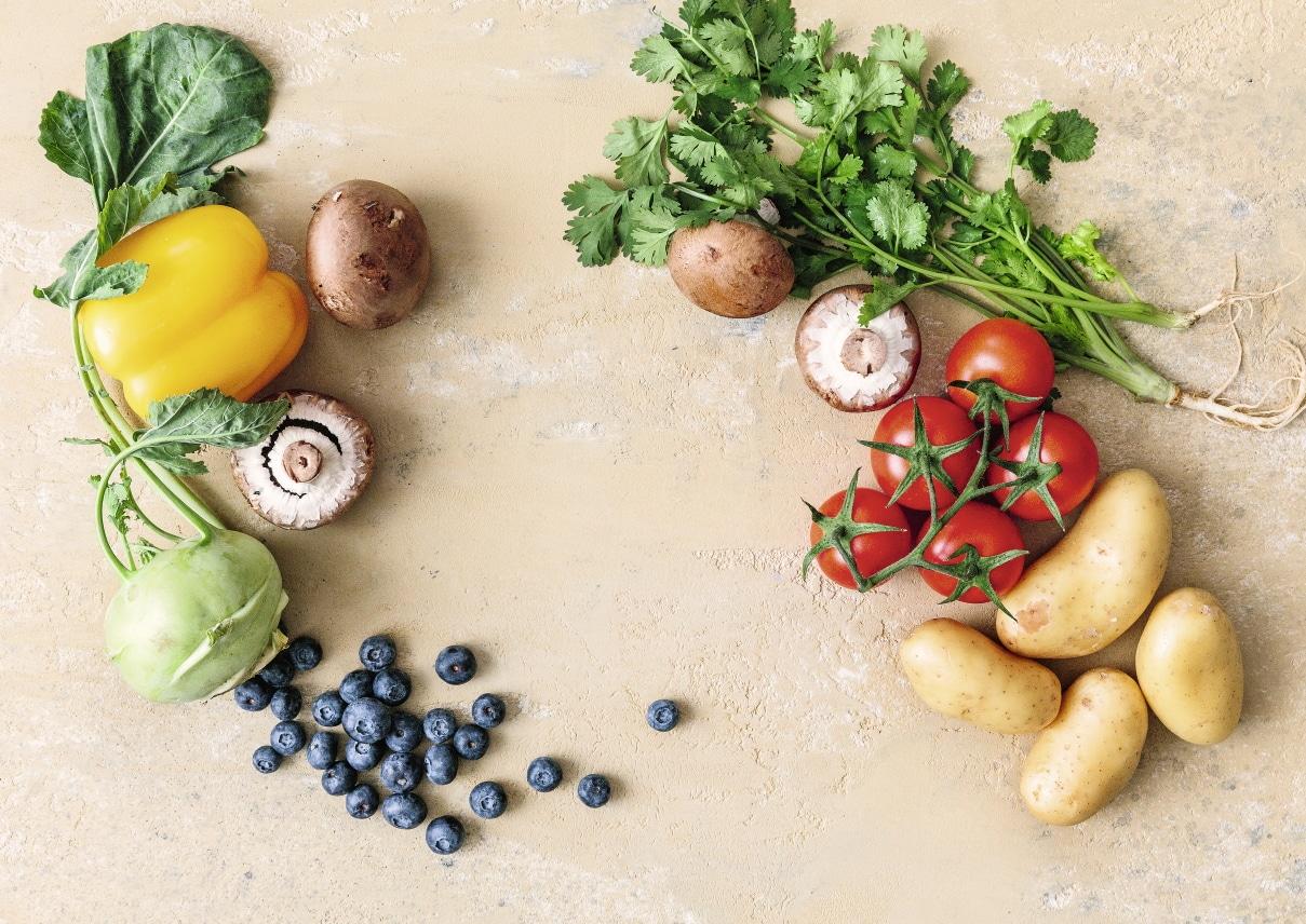 Gemüse und Beeren