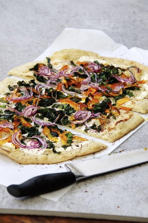 Weiße Pizza, Flammkuchen